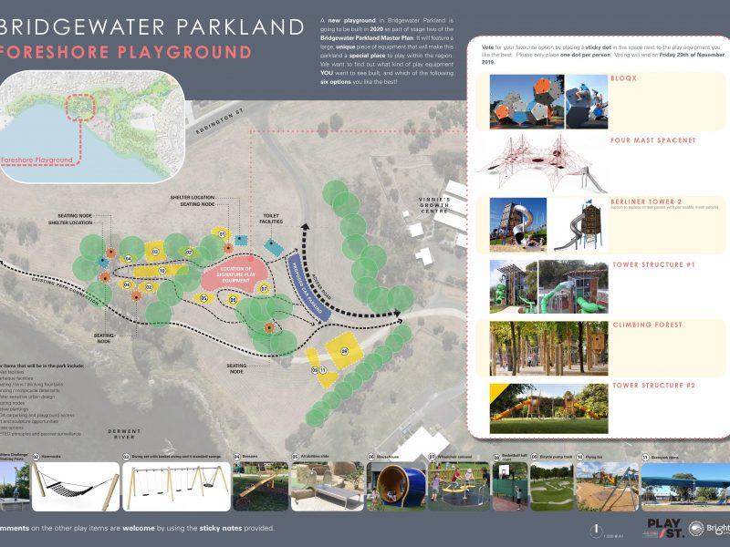 Bridgewater Parkland Stage 2 Consultation poster